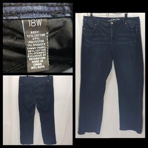 Inc Plus Size 18W BootLeg Slim Tech Fit Jeans